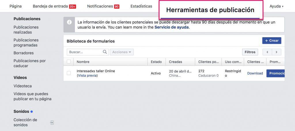 Herramientas de publicación_Facebook Ads