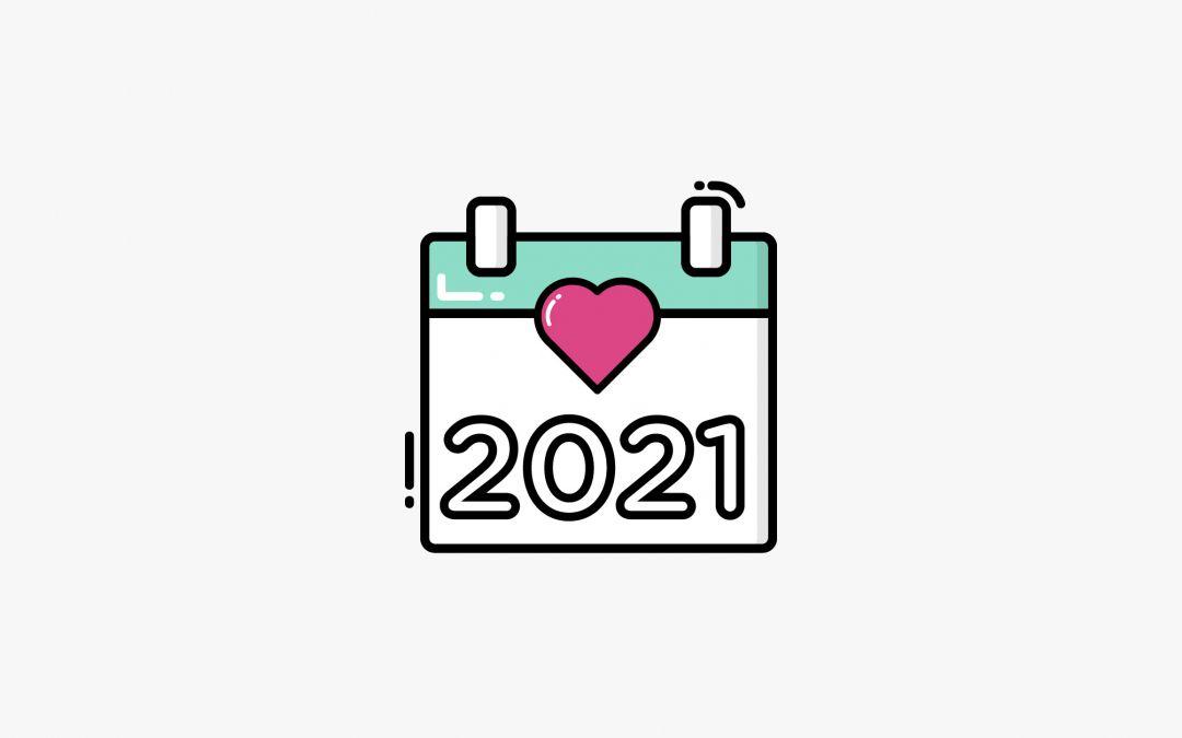 [ DESCARGABLE ] Calendario anual imprimible 2021